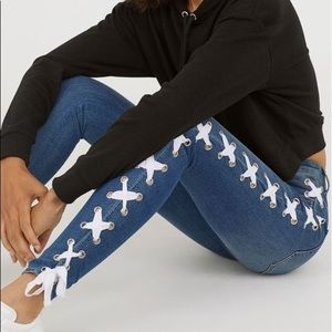 H&M (Divided) Lace Up Jeans